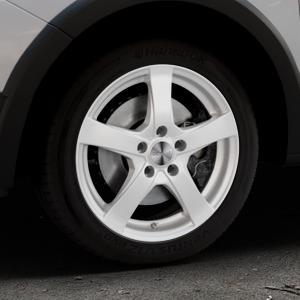 DEZENT RE Silver Felge mit Reifen silber in 16Zoll Winterfelge Alufelge auf silbernem Dacia Sandero Stepway II Typ SD ⬇️ mit 15mm Tieferlegung ⬇️ Industriehalle 1 Thumbnail