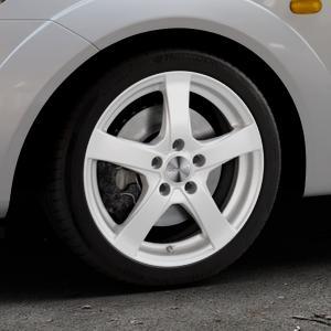 DEZENT RE Silver Felge mit Reifen silber in 16Zoll Winterfelge Alufelge auf silbernem Ford Fiesta V Typ JH1/JD3 ⬇️ mit 15mm Tieferlegung ⬇️ Industriehalle 1 Thumbnail