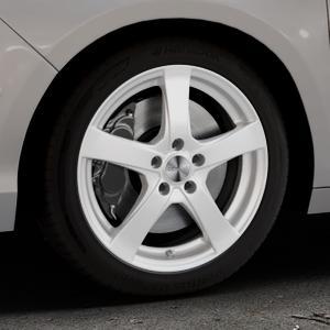 DEZENT RE Silver Felge mit Reifen silber in 17Zoll Winterfelge Alufelge auf silbernem Citroen C4 Typ N ⬇️ mit 15mm Tieferlegung ⬇️ Industriehalle 1 Thumbnail