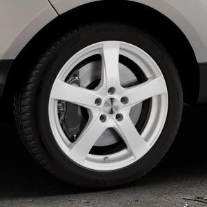 DEZENT RE Silver Felge mit Reifen silber in 17Zoll Winterfelge Alufelge auf silbernem Ford EcoSport Typ JK8 Facelift ⬇️ mit 15mm Tieferlegung ⬇️ Industriehalle 1 Thumbnail