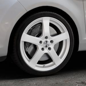 DEZENT RE Silver Felge mit Reifen silber in 17Zoll Winterfelge Alufelge auf silbernem Ford Fiesta VI Typ JA8 Facelift ⬇️ mit 15mm Tieferlegung ⬇️ Industriehalle 1 Thumbnail