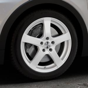 DEZENT RE Silver Felge mit Reifen silber in 17Zoll Winterfelge Alufelge auf silbernem Opel Ampera-e Typ 1G0F ⬇️ mit 15mm Tieferlegung ⬇️ Industriehalle 1 Thumbnail
