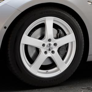 DEZENT RE Silver Felge mit Reifen silber in 18Zoll Winterfelge Alufelge auf silbernem BMW 535i GT Typ F07 xDrive 550i 530d 535d 520d 528i ⬇️ mit 15mm Tieferlegung ⬇️ Industriehalle 1 Thumbnail