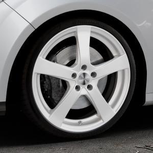 DEZENT RE Silver Felge mit Reifen silber in 19Zoll Winterfelge Alufelge auf silbernem Ford Focus III Typ DYB (Schrägheck) (Stufenheck) Facelift ⬇️ mit 15mm Tieferlegung ⬇️ Industriehalle 1 Thumbnail