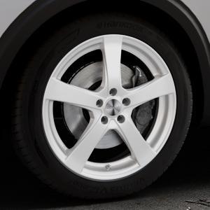 DEZENT RE Silver Felge mit Reifen silber in 19Zoll Winterfelge Alufelge auf silbernem Peugeot 5008 Typ M ⬇️ mit 15mm Tieferlegung ⬇️ Industriehalle 1 Thumbnail