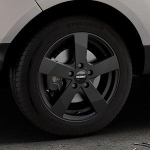DEZENT TD Black matt Felge mit Reifen schwarz in 16Zoll Winterfelge Alufelge auf silbernem Ford EcoSport Typ JK8 Facelift ⬇️ mit 15mm Tieferlegung ⬇️ Industriehalle 1 Thumbnail