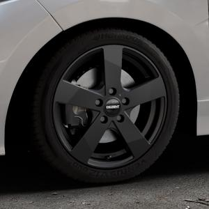 DEZENT TD Black matt Felge mit Reifen schwarz in 16Zoll Winterfelge Alufelge auf silbernem Honda Jazz IV (GK) Facelift ⬇️ mit 15mm Tieferlegung ⬇️ Industriehalle 1 Thumbnail