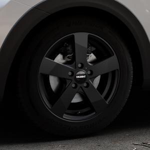 DEZENT TD Black matt Felge mit Reifen schwarz in 16Zoll Winterfelge Alufelge auf silbernem Kia Stonic Typ YB ⬇️ mit 15mm Tieferlegung ⬇️ Industriehalle 1 Thumbnail