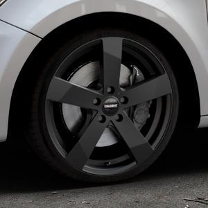 DEZENT TD Black matt Felge mit Reifen schwarz in 18Zoll Winterfelge Alufelge auf silbernem Audi A1 Typ 8X ⬇️ mit 15mm Tieferlegung ⬇️ Industriehalle 1 Thumbnail