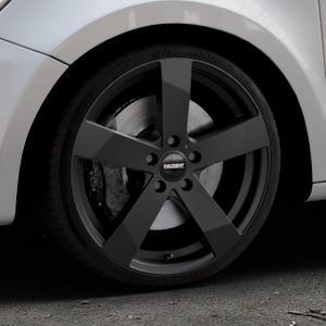 DEZENT TD Black matt Felge mit Reifen schwarz in 18Zoll Winterfelge Alufelge auf silbernem Audi A1 Typ 8X (Sportback) ⬇️ mit 15mm Tieferlegung ⬇️ Industriehalle 1 Thumbnail