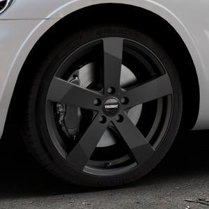 DEZENT TD Black matt Felge mit Reifen schwarz in 18Zoll Winterfelge Alufelge auf silbernem Chrysler PT Cruiser Cabriolet ⬇️ mit 15mm Tieferlegung ⬇️ Industriehalle 1 Thumbnail