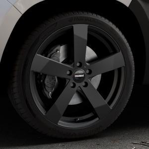 DEZENT TD Black matt Felge mit Reifen schwarz in 19Zoll Winterfelge Alufelge auf silbernem Dacia Duster Typ SR ⬇️ mit 15mm Tieferlegung ⬇️ Industriehalle 1 Thumbnail