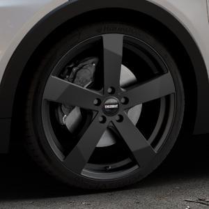 DEZENT TD Black matt Felge mit Reifen schwarz in 19Zoll Winterfelge Alufelge auf silbernem Opel Ampera-e Typ 1G0F ⬇️ mit 15mm Tieferlegung ⬇️ Industriehalle 1 Thumbnail