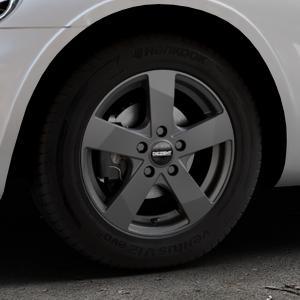DEZENT TD Graphite matt Felge mit Reifen grau in 15Zoll Winterfelge Alufelge auf silbernem Chrysler PT Cruiser Cabriolet ⬇️ mit 15mm Tieferlegung ⬇️ Industriehalle 1 Thumbnail