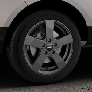 DEZENT TD Graphite matt Felge mit Reifen grau in 16Zoll Winterfelge Alufelge auf silbernem Ford EcoSport Typ JK8 ⬇️ mit 15mm Tieferlegung ⬇️ Industriehalle 1 Thumbnail