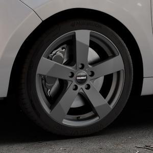 DEZENT TD Graphite matt Felge mit Reifen grau in 17Zoll Winterfelge Alufelge auf silbernem Citroen C3 Picasso ⬇️ mit 15mm Tieferlegung ⬇️ Industriehalle 1 Thumbnail