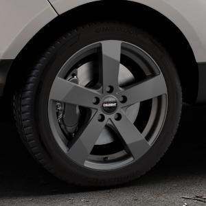 DEZENT TD Graphite matt Felge mit Reifen grau in 17Zoll Winterfelge Alufelge auf silbernem Ford EcoSport Typ JK8 Facelift ⬇️ mit 15mm Tieferlegung ⬇️ Industriehalle 1 Thumbnail