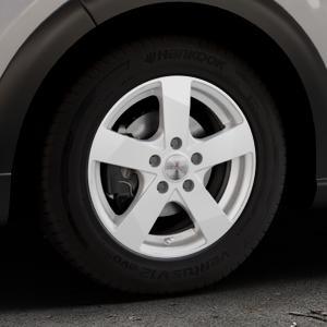 DEZENT TD Silver Felge mit Reifen silber in 15Zoll Winterfelge Alufelge auf silbernem Citroen C3 III ⬇️ mit 15mm Tieferlegung ⬇️ Industriehalle 1 Thumbnail