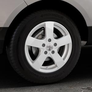 DEZENT TD Silver Felge mit Reifen silber in 15Zoll Winterfelge Alufelge auf silbernem Ford EcoSport Typ JK8 ⬇️ mit 15mm Tieferlegung ⬇️ Industriehalle 1 Thumbnail