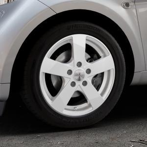 DEZENT TD Silver Felge mit Reifen silber in 15Zoll Winterfelge Alufelge auf silbernem Smart Fortwo Coupe III (14-) (453) Cabrio (16-) ⬇️ mit 15mm Tieferlegung ⬇️ Industriehalle 1 Thumbnail