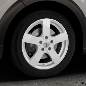DEZENT TD SILVER Felge mit Reifen silber in 16Zoll Winterfelge Alufelge auf silbernem Citroen C3 III ⬇️ mit 15mm Tieferlegung ⬇️ Industriehalle 1 Thumbnail