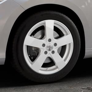DEZENT TD Silver Felge mit Reifen silber in 16Zoll Winterfelge Alufelge auf silbernem Fiat Tipo II Limousine Typ 356 ⬇️ mit 15mm Tieferlegung ⬇️ Industriehalle 1 Thumbnail