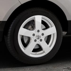 DEZENT TD Silver Felge mit Reifen silber in 16Zoll Winterfelge Alufelge auf silbernem Ford EcoSport Typ JK8 ⬇️ mit 15mm Tieferlegung ⬇️ Industriehalle 1 Thumbnail