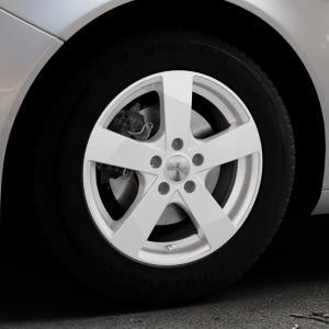 DEZENT TD SILVER Felge mit Reifen silber in 16Zoll Winterfelge Alufelge auf silbernem Opel Insignia I Sports Tourer Facelift ⬇️ mit 15mm Tieferlegung ⬇️ Industriehalle 1 Thumbnail