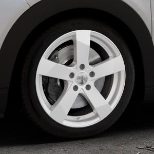 DEZENT TD Silver Felge mit Reifen silber in 17Zoll Winterfelge Alufelge auf silbernem Citroen C4 Cactus Typ 0 ⬇️ mit 15mm Tieferlegung ⬇️ Industriehalle 1 Thumbnail