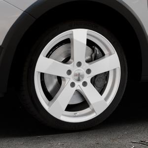 DEZENT TD Silver Felge mit Reifen silber in 17Zoll Winterfelge Alufelge auf silbernem Dacia Sandero Stepway II Typ SD ⬇️ mit 15mm Tieferlegung ⬇️ Industriehalle 1 Thumbnail