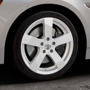 DEZENT TD Silver Felge mit Reifen silber in 17Zoll Winterfelge Alufelge auf silbernem Fiat 124 Spider Typ NF ⬇️ mit 15mm Tieferlegung ⬇️ Industriehalle 1 Thumbnail