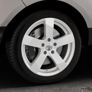 DEZENT TD Silver Felge mit Reifen silber in 17Zoll Winterfelge Alufelge auf silbernem Ford EcoSport Typ JK8 Facelift ⬇️ mit 15mm Tieferlegung ⬇️ Industriehalle 1 Thumbnail