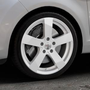 DEZENT TD Silver Felge mit Reifen silber in 17Zoll Winterfelge Alufelge auf silbernem Ford Fiesta VI Typ JA8 Facelift ⬇️ mit 15mm Tieferlegung ⬇️ Industriehalle 1 Thumbnail