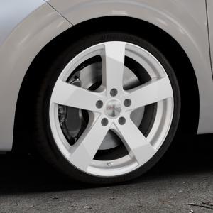 DEZENT TD Silver Felge mit Reifen silber in 17Zoll Winterfelge Alufelge auf silbernem Kia Picanto III Typ JA ⬇️ mit 15mm Tieferlegung ⬇️ Industriehalle 1 Thumbnail