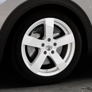 DEZENT TD Silver Felge mit Reifen silber in 17Zoll Winterfelge Alufelge auf silbernem Kia Stonic Typ YB ⬇️ mit 15mm Tieferlegung ⬇️ Industriehalle 1 Thumbnail