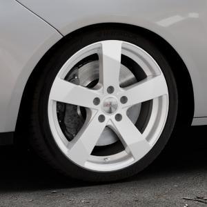 DEZENT TD Silver Felge mit Reifen silber in 17Zoll Winterfelge Alufelge auf silbernem Opel Adam ⬇️ mit 15mm Tieferlegung ⬇️ Industriehalle 1 Thumbnail