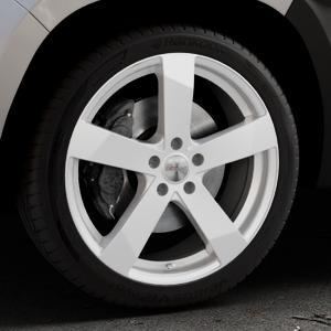DEZENT TD Silver Felge mit Reifen silber in 19Zoll Winterfelge Alufelge auf silbernem Dacia Duster Typ SR ⬇️ mit 15mm Tieferlegung ⬇️ Industriehalle 1 Thumbnail