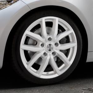 DEZENT TE Silver Felge mit Reifen silber in 18Zoll Winterfelge Alufelge auf silbernem BMW M2 Typ F87 ⬇️ mit 15mm Tieferlegung ⬇️ Industriehalle 1 Thumbnail