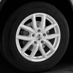 DEZENT TE Silver Felge mit Reifen silber in 18Zoll Winterfelge Alufelge auf silbernem Jeep Grand Cherokee IV Typ WK ⬇️ mit 15mm Tieferlegung ⬇️ Industriehalle 1 Thumbnail