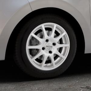 DEZENT TI Silver Felge mit Reifen silber in 14Zoll Winterfelge Alufelge auf silbernem Citroen C1 II ⬇️ mit 15mm Tieferlegung ⬇️ Industriehalle 1 Thumbnail
