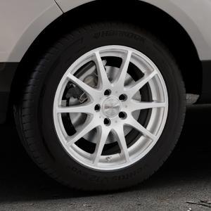 DEZENT TI Silver Felge mit Reifen silber in 16Zoll Winterfelge Alufelge auf silbernem Ford EcoSport Typ JK8 ⬇️ mit 15mm Tieferlegung ⬇️ Industriehalle 1 Thumbnail