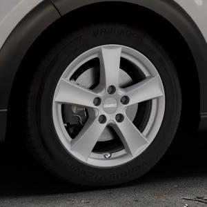DEZENT TX Graphite matt Felge mit Reifen grau in 16Zoll Winterfelge Alufelge auf silbernem Citroen C3 III ⬇️ mit 15mm Tieferlegung ⬇️ Industriehalle 1 Thumbnail