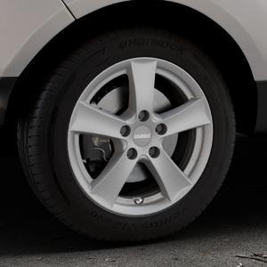 DEZENT TX Graphite matt Felge mit Reifen grau in 16Zoll Winterfelge Alufelge auf silbernem Ford EcoSport Typ JK8 Facelift ⬇️ mit 15mm Tieferlegung ⬇️ Industriehalle 1 Thumbnail