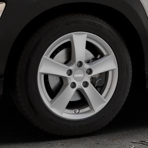 DEZENT TX Graphite matt Felge mit Reifen grau in 16Zoll Winterfelge Alufelge auf silbernem Hyundai Kona Typ OS ⬇️ mit 15mm Tieferlegung ⬇️ Industriehalle 1 Thumbnail