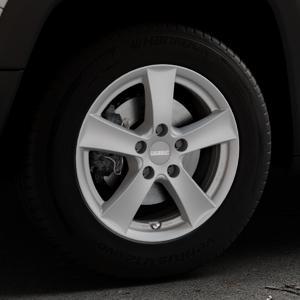 DEZENT TX Graphite matt Felge mit Reifen grau in 16Zoll Winterfelge Alufelge auf silbernem Jeep Renegade Typ BU ⬇️ mit 15mm Tieferlegung ⬇️ Industriehalle 1 Thumbnail