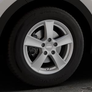 DEZENT TX Graphite matt Felge mit Reifen grau in 16Zoll Winterfelge Alufelge auf silbernem Kia Sportage IV Typ QL QLE ⬇️ mit 15mm Tieferlegung ⬇️ Industriehalle 1 Thumbnail