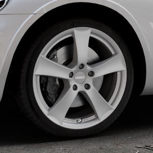 DEZENT TX Graphite matt Felge mit Reifen grau in 18Zoll Winterfelge Alufelge auf silbernem Chrysler PT Cruiser Cabriolet ⬇️ mit 15mm Tieferlegung ⬇️ Industriehalle 1 Thumbnail