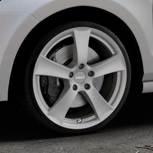 DEZENT TX GRAPHITE MATT Felge mit Reifen grau in 18Zoll Winterfelge Alufelge auf silbernem Volkswagen (VW) Polo V Typ 6C 1,8l GTI 141kW (192 PS) ⬇️ mit 15mm Tieferlegung ⬇️ Industriehalle 1 Thumbnail
