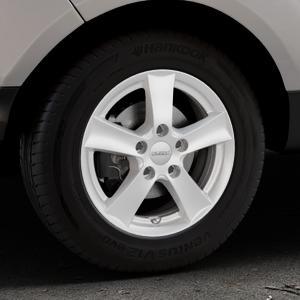 DEZENT TX Silver Felge mit Reifen silber in 15Zoll Winterfelge Alufelge auf silbernem Ford EcoSport Typ JK8 Facelift ⬇️ mit 15mm Tieferlegung ⬇️ Industriehalle 1 Thumbnail