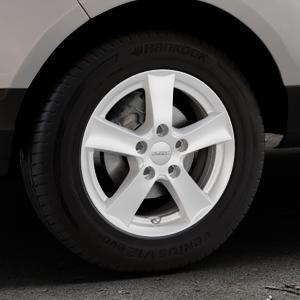 DEZENT TX Silver Felge mit Reifen silber in 15Zoll Winterfelge Alufelge auf silbernem Ford EcoSport Typ JK8 ⬇️ mit 15mm Tieferlegung ⬇️ Industriehalle 1 Thumbnail